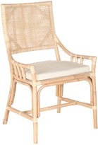 The Well Appointed House Rattan Arm Chair Natural White Wash - CURRENTLY ON BACKORDER UNTIL LATE JANUARY 2017
