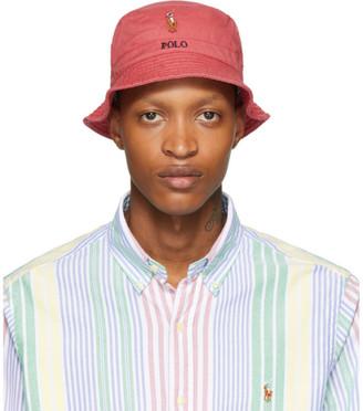 Polo Ralph Lauren Red Stretch Cotton Bucket Hat