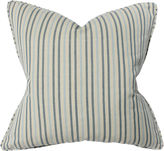 Barclay Butera Stripe 22x22 Cotton Pillow, Blue