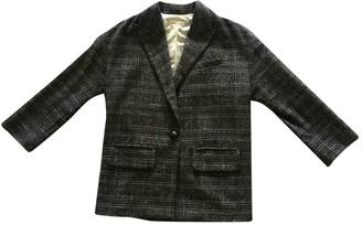 Masscob Grey Wool Jacket for Women