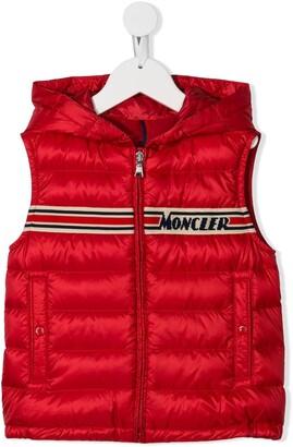 Moncler Enfant Hooded Knitted Logo Gilet