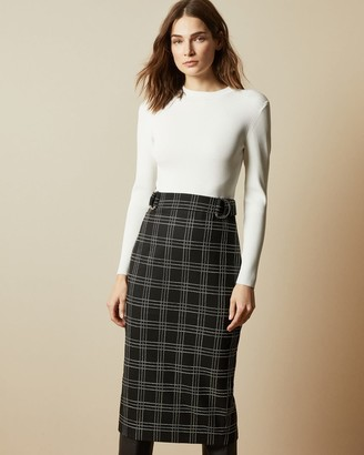 Ted Baker Knitted Mockable Fitted Dress