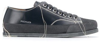 Premiata Contrast Stitching Low-Top Sneakers