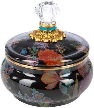 Mackenzie Childs MacKenzie-Childs - Flower Market Squashed Pot - Black