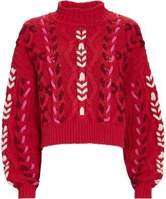 Etoile Isabel Marant Zola Cable Knit Mock Neck Sweater