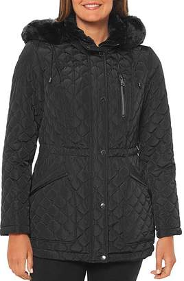 Vince Camuto Faux Fur-Lined Hood Puffer Coat
