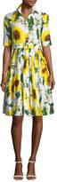 Samantha Sung Audrey Sunflower-Print Shirtdress