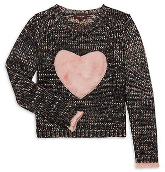 Imoga Girl's Faux Fur-Accented Cotton-Blend Sweater