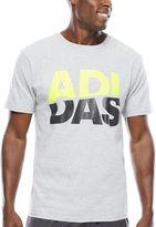 adidas Short-Sleeve Logo Stacks Tee
