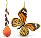Bellus Domina Rose Petal and Butterfly Earrings