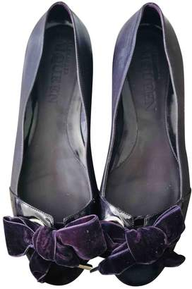Alexander McQueen Purple Leather Ballet flats