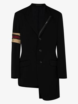 Yohji Yamamoto Selvedge detail wool blazer