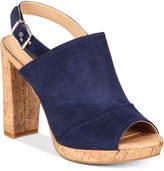 INC International Concepts Women's Tangia Platform Block-Heel Sandals, Created for Macy's