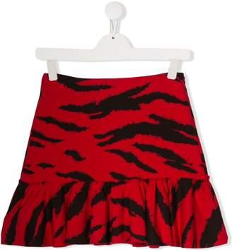 Philosophy di Lorenzo Serafini Kids TEEN animal-print ruffled skirt