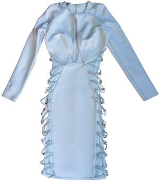 House Of CB Ecru Synthetic Dresses