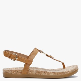UGG Aleigh Almond Leather Sandals