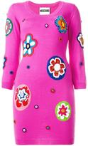 Moschino bead embroidered knitted dress - women - Wool - 38