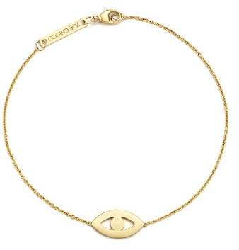 Chicco Zoë 14K Yellow Gold Evil Eye Diamond Bracelet, .01 ct. t.w.