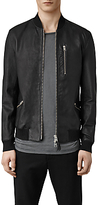 Allsaints Allsaints Utility Leather Bomber Jacket, Black