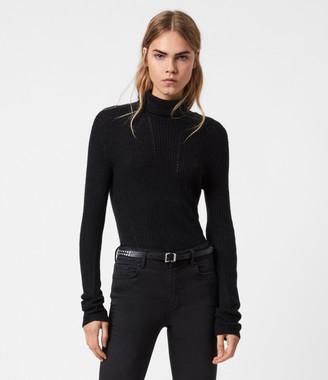 AllSaints Seamless Roll Neck Sweater