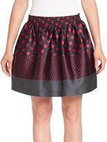 RED Valentino Mixed Print Polka Dot Skirt