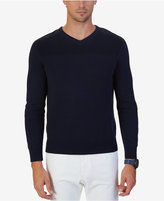 Nautica Men's Multi-Textured V-Neck Sweater