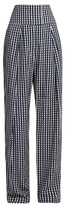 Preen by Thornton Bregazzi Brito wide-leg gingham trousers