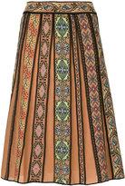 M Missoni patterned pleated skirt