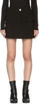 Helmut Lang Black Raw Detail Miniskirt