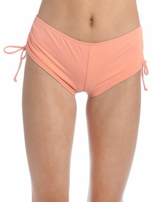 Hobie Women's Solid Hot Pant Bikini Swimsuit Bottom