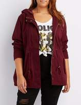 Charlotte Russe Plus Size Hooded Anorak Jacket