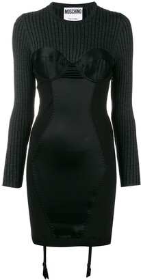 Moschino knit fitted dress