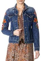 Miss Me Women's Embroidered Denim Jacket
