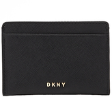 DKNY Bryant Park Small Leather Card Holder, Black