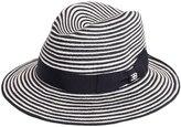 Ettore Bugatti Collection Striped Woven Straw Hat