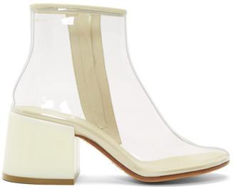 MM6 MAISON MARGIELA SSENSE Exclusive Tranparent PVC Flare Heel Boots
