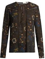 A.L.C. Noemi floral-print silk-chiffon blouse