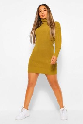 boohoo Petite Roll Neck Jumper Dress