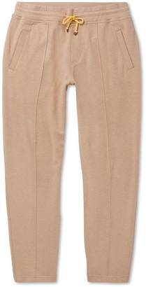 Brunello Cucinelli Tapered Cotton-Blend Jersey Sweatpants - Men - Brown