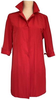 Herno Red Cotton Trench Coat for Women