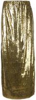 Misbhv metallic sequined maxi skirt