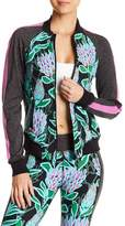 Trina Turk Floral Front Zip Bomber Jacket