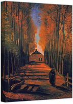 "Art wall 48'' x 36'' ''Avenue of Poplars in Autumn"" Canvas Wall Art by Vincent van Gogh"