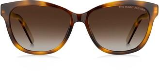 Marc Jacobs 55mm Polarized Gradient Rectangular Sunglasses