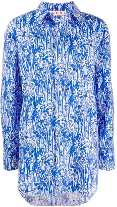 Marni Floral-Print Oversized Shirt