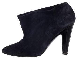Balenciaga Suede Pointed-Toe Booties