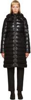 Moncler Black Down Long Moka Coat