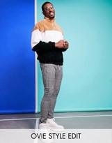 Asos Design DESIGN super skinny trousers in micro check