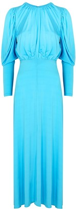 Rotate by Birger Christensen Laura blue stretch-jersey midi dress