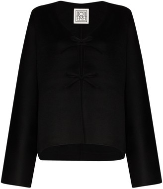 Totême Tie-Front Long-Sleeve Cardigan